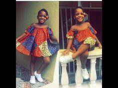 Ankara Styles For Kids; Little Girls And Baby Girls Ankara Styles Ankara Styles For Kids, African Dresses For Kids, African Children, African Fashion Dresses, Girls Dresses, Ankara Fashion, African Outfits, African Attire, African Wear