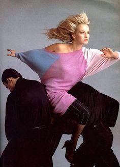 Estelle Lefebure by Richard Avedon - Versace S/S 1987