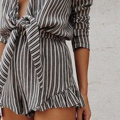 Stylish romper. Rompers are so comfy yet so fashionable. I love the style of this one