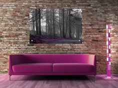 Black and white with purple colour tint. Misty Forest, Love Seat, Cool Art, Swimming Pools, Black And White, Purple, Color, Home Decor, Swiming Pool