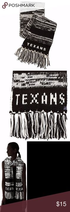 Houston Texans Moto Marled Scarf Brand New Officially Licensed with tags. This super thick and cozy scarf is made out of 100% Acrylic twisted marl yarn with monochromatic team intarsia. 8869844151048 TX Touch by Alyssa Milano Accessories Scarves & Wraps