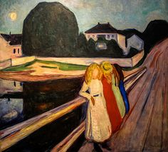 Edvard Munch - Four Girls on the Bridge, 1905 at Wallraf-Richartz Museum Cologne Germany