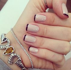 Beautiful Nail Art Ideas You Have To Try - Page 11 of 44 - Nail Stylish Nail Art Vernis, Manicure And Pedicure, Hair And Nails, My Nails, Nude Nails, Perfect Nails, Natural Nails, Nails Inspiration, Beauty Nails