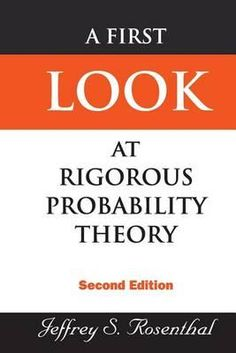 A first look at rigorous probability theory  Description: This textbook is an introduction to probability theory using measure theory. It is designed for graduate students in a variety of fields (mathematics statistics economics management finance computer science and engineering) who require a working knowledge of probability theory that is mathematically precise but without excessive technicalities. The text provides complete proofs of all the essential introductory results. Nevertheless…
