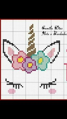 Your Own Cross Stitch Embroidery Patterns - Embroidery Patterns Unicorn cross stitch. I'd use actual fake eyelashesUnicorn cross stitch. I'd use actual fake eyelashes Unicorn Cross Stitch Pattern, Cross Stitch Baby, Unicorn Pattern, Cross Stitch Alphabet, Disney Cross Stitch Patterns, Cross Stitch For Kids, Crochet Unicorn, Cross Stitching, Cross Stitch Embroidery