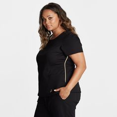 Modern Scrubs and Lab Coats for Men and Women by Jaanuu Nyc Nails, Medical Uniforms, Phlebotomy, Medical Scrubs, Scrub Tops, Ems, Monochrome, Peplum