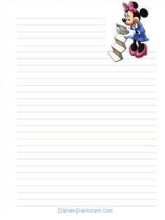 Photo of Disney stationary for fans of Stationary 223206 Printable Lined Paper, Free Printable Stationery, Art Journal Prompts, Journal Cards, Disney Writing, Minnie Mouse Coloring Pages, Lined Writing Paper, Writing Papers, Autograph Book Disney