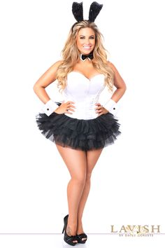 8d3d933b8d7 White Black Flirty Tuxedo Bunny Corset Sexy Plus Size Costume. Angie  Stinnett Myers · Dress up