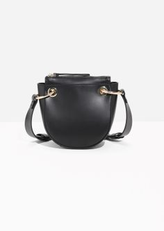 & Other Stories   Mini Leather Saddle Bag