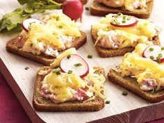 Cheesy Reuben Appetizer: Put this in a little crock and it will disappear on any cracker. I use cocktail sauce 1/4 cup and a tbl or horseradish instead of the Thousand Island dressing. That's a hint from my old friend Sue