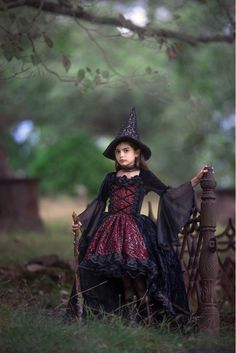 Whimsical Witch Costume in Red or Purple image 2