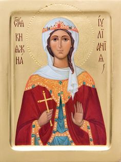 Icon of Holy Righteous Juliania - Blessed Icon - Hand Painted Icon from the… Religious Images, Religious Icons, Religious Art, Paint Icon, Orthodox Christianity, Painting Studio, Catholic Saints, Jesus Is Lord, Orthodox Icons