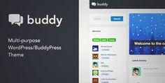 Download and review of Buddy: Multi-Purpose WordPress/BuddyPress Theme, one of the best Themeforest BuddyPress themes