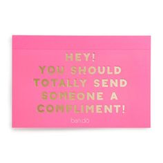 compliment postcard book - assorted - single - front