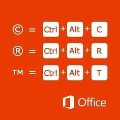 Via @windowsespana #Trucos del teclado #Office #Microsoft #PC #blogger #llaverotec