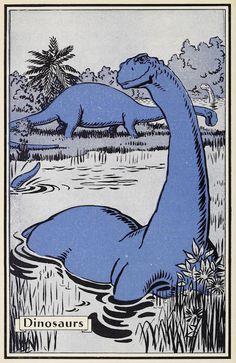 Tales and Travel. Dinosaur Illustration, Retro Illustration, Cartoon Christmas Tree, Dinosaur Age, Dinosaur Wallpaper, Matching Wallpaper, Comic Panels, Art Hoe, Old Ads