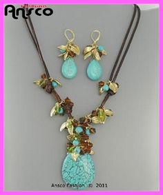 Great use for that turquoise pendant.  ansco fashion handmade jewelry