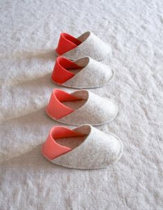 felt baby slippers from Purl