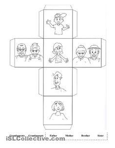 Kindergarten Worksheets My Family #2