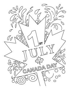 Canada Day Free Coloring Pages Coloring Sheets For Kids - AZ . People Coloring Pages, Coloring Sheets For Kids, Online Coloring Pages, Coloring Pages For Kids, Kids Coloring, Adult Coloring, Coloring Books, Kids Az, Canada Day Fireworks