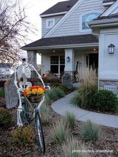 halloween decorating ideas for camping pinteres - Skeletons For Halloween Decorations