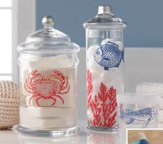 Add a nautical touch to your home decor or projects easily using these Martha Stewart Crafts® Glass Silkscreen, Ocean theme.