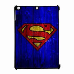 Superman Logo On Wood Blue iPad Air Case