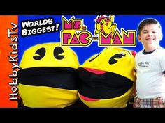 Worlds Biggest MS PAC-MAN Surprise Egg! Maze + Pop Game, Pokey HobbyKidsTV