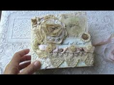 Fabric/Lace Books - Challenge Winners!!! - YouTube