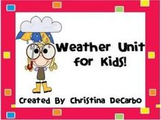 Your meteorologists will have so much fun with this jam-packed 35 page weather unit!  There are 12 learning posters and 15 weather activities for y... by dona
