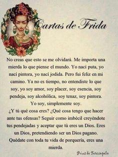 Frida kahlo a Diego Rivera : eres una mierda!