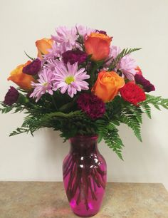 Houston Florist Delivery Make sure to brighten up her day and get her an arrangement that she'll love. Visit our website flowersdeliveryhouston.com and get her one today! We also offer same day delivery. #HappyTuesday