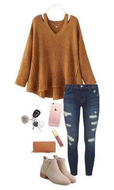 Untitled #709 by shelbycooper on Polyvore featuring WithChic, J Brand, Tory Burch, Kendra Scott and New Directions