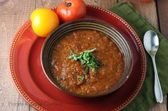 Rustic Roasted Tomato and Garlic Soup