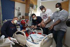 Mesko, Brace, Silvestro & Koepplin visit a huge Spider Man fan Children's Hospital. Melts my heart!