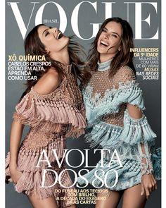Alessandra Ambrósio e Isabeli Fontana fazem dobradinha fashion na vogue de outubro