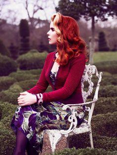 Retro Red & Blonde Hair