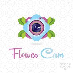 Exclusive Customizable Logo For Sale: Flower Cam by Serdal Sert | StockLogos.com