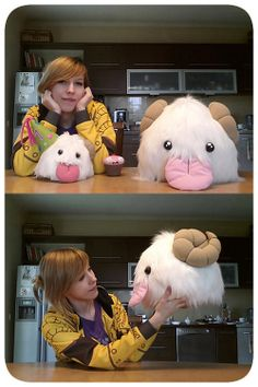 Giant Poro Plushie Poro Adoption Center by PoroAdoptionCenter