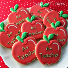 Sugar Dot Cookies: Apple Cookies