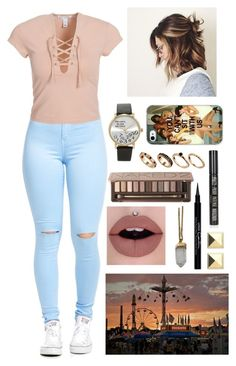 """State Fair Date"" by mrsalythiamalik on Polyvore featuring NLY Trend, Samsung, Forever 21, ASOS, Urban Decay, Topshop, Givenchy and Lacey Ryan"