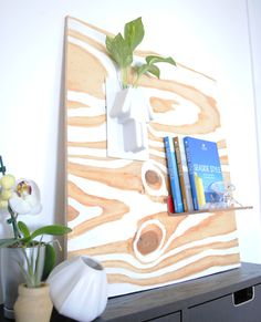 DIY - Love this wood board - you just paint according to the natural lines in it... makes it look amazing!