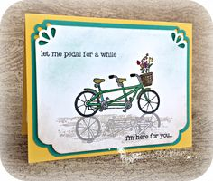 Image Reflection technique - Pedal Pusher Stamp set from Stampin' Up! Sale-a-Bration 2016. Visit my online store https://www.stampinup.com/ecweb/default.aspx