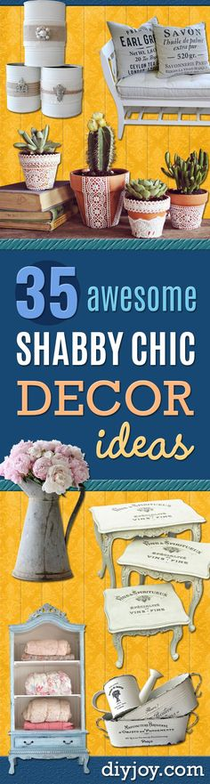 DIY Shabby Chic Decor Ideas - French Farmhouse and Vintage White Linens - Bedroom, Living Room, Bathroom Ideas, Distressed Furniture and Boho Crafts -. Shabby Chic Interiors, Shabby Chic Bedrooms, Shabby Chic Homes, Shabby Chic Furniture, Shabby Chic Decor, Vintage Decor, Vintage Furniture, Furniture Ideas, Chabby Chic