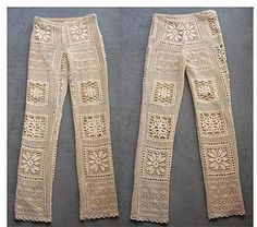 No Pattern. Crocheted Pants.