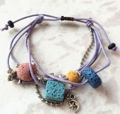 Style: Trendy Fashion Bracelet Clasp: Toggle Features: Lava Stone and Charms Length: Adjustable 7 to Inches Cheap Charm Bracelets, Trendy Bracelets, Diamond Bracelets, Bracelets For Men, Fashion Bracelets, Bangles, Stone Beads, Stones, Strand Bracelet