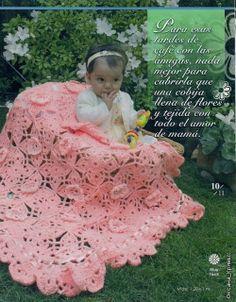 Uncinetto d'oro: Bellissimo copriletto rosa!!! (per bimbi)