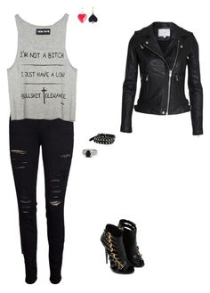 """""""46899532"""" by booklover1234 ❤ liked on Polyvore featuring Frame, Giuseppe Zanotti, Gemvara, Angie and N2 By Les Nereides"""
