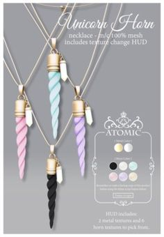 .Atomic. {Unicorn Horn} Necklace