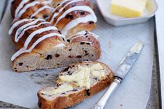 Don your apron and trying baking your own bread at home with this gorgeous plaited fruit loaf.